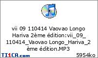 vii 09 110414 Vaovao Longo Hariva 2ème édition