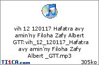 vih 12 120117 Hafatra avy amin'ny Filoha Zafy Albert  GTT