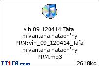vih 09 120414 Tafa mivantana nataon'ny PRM