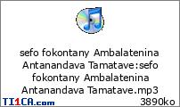 sefo fokontany Ambalatenina Antanandava Tamatave
